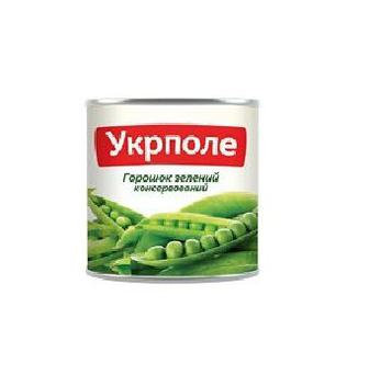 Горошок зелений консервований УкрПоле 420 г