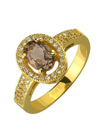 Золота каблучка з кварцом (01-17224961/669)