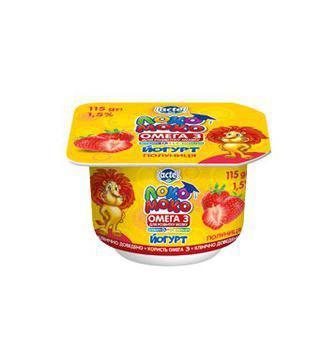 Йогурт кальц., Омега 3 и вит D3 1.5%  Локо Моко 115 г