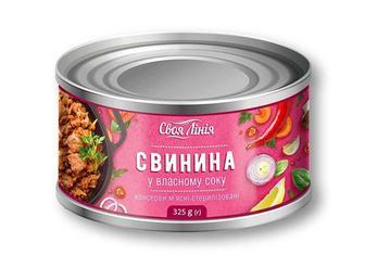 Консерви Свинина у власному соку «Своя Лінія» - 325 г