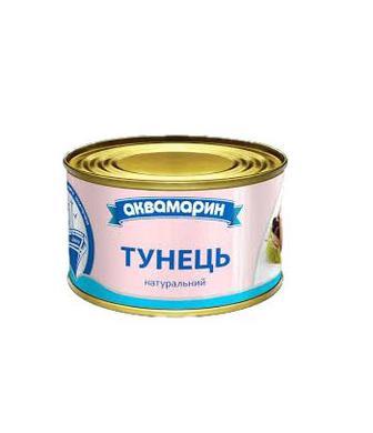 Рибні консерви Аквамарин Тунець натур.ВО185г ключ