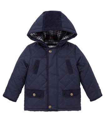 Демісезонна стьобана куртка з капюшоном від Mothercare
