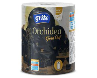 Рушник паперовий Grite Orchidea Gold Chef, 1 рулон/уп