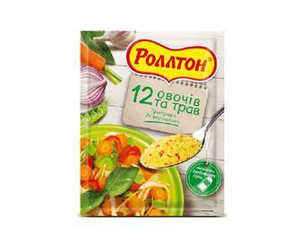 Приправа «Роллтон» універсальна «12 овочів та трав» 80г