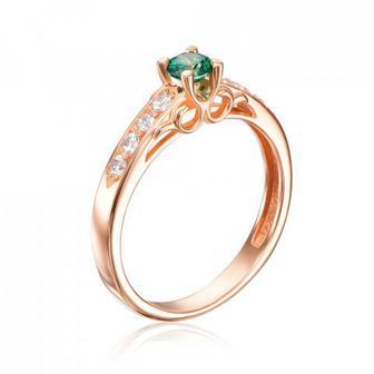 Золотое кольцо с фианитами Swarovski. Артикул 12135/01/0/1360