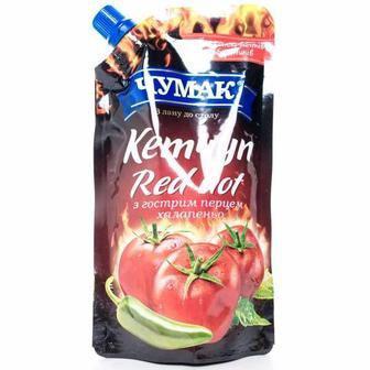 Кетчуп Red Hot або лагідний для дітей Чумак 280, 200г