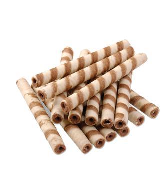 Вафельні трубочки з какао або з молоком ХБФ 1 кг