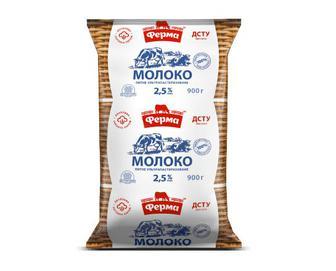 Молоко ультрапастеризоване 2,5% жиру «Ферма» 900г
