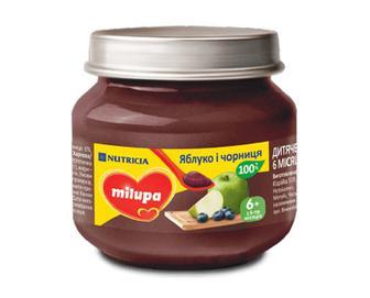 Пюре Milupa яблуко і чорниця, 100г