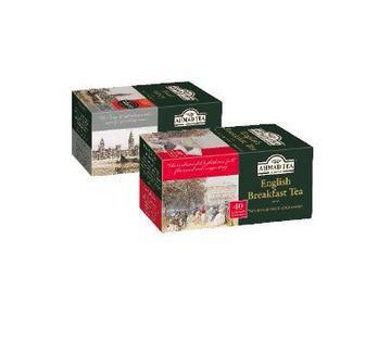 Чай чорний Эрл Грей з бергамотом, Інгліш Брекфест,  Ахмад, 40 пак