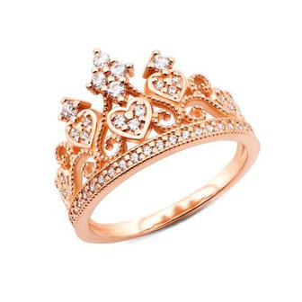 Золотое кольцо Корона с фианитами (13185/01/0/350)