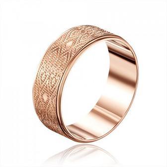 Обручальное кольцо с алмазной гранью. Артикул 10101/19