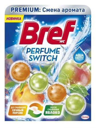 Блок з очисним засобом для унітаза Bref Персик-Яблуко 50 г