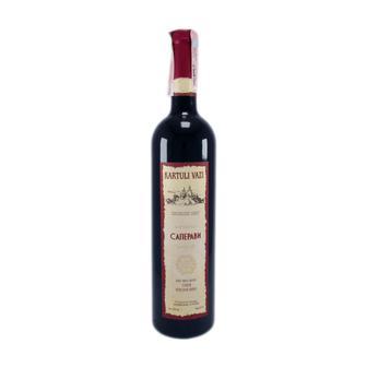 Вино Картулі Вазі Сапераві червоне сухе/Цинандалі біле сухе 0,75л