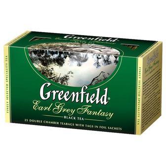 Чай Гринфилд Эрл Грей черный с бергамотом 25 пакетиков