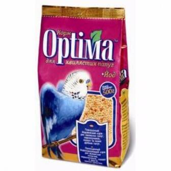 Корм Optima для хвилястих папуг 500г
