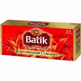 Чай чорний  Королівський стандарт  Batik 25*2 г