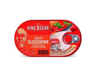 Оселедець King Oscar філе в гострому соусі з каєнським перцем, 170г