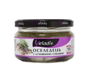 Икра, паста, морепродукты, сельдь филе в масле Матье Veladis