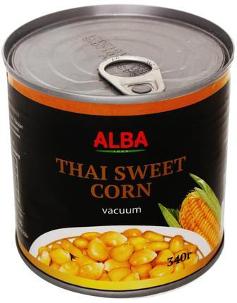 Кукуруза сахарная консервированная ALBA FOOD 340г