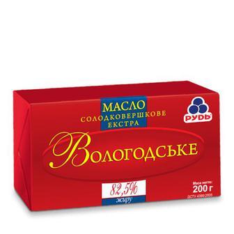 Масло Вологодське Рудь 82,5% 200г