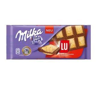 Шоколад Milka з цілим мигдалем, крекером Тук та печивом 90 г та 87 г