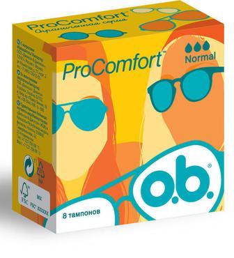 Тампоны o.b. ProComfort Normal 8 шт