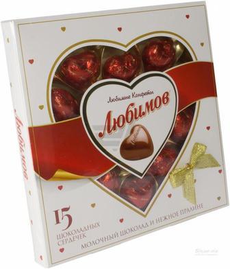 ЦУКЕРКИ Молочний шоколад, 125 г ЛЮБИМОВ