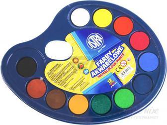 Акварельні фарби 12 кольорів Astra