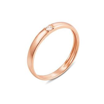 Обручальное кольцо с бриллиантом Артикул 10154/2.25