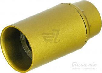 Патрон електричний Electraline E14 пластик золотий 71124