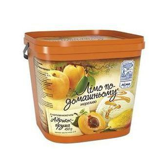 Морозиво   По-Домашньому абрикос груша або малина  Лімо 450 г