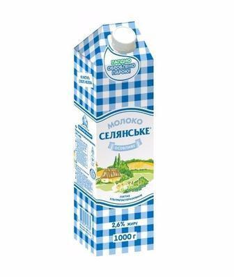 Молоко Селянське особливе 2,6% жиру 1000 г