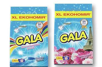 Засіб миючий синтетичний Морська свіжість для кольорових речей / Французький аромат, порошок автомат Gala 3,5 кг
