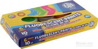Скидка 25% ▷ Фарби гуашеві флуоресцентні 6 кольорів 10 мл Astra
