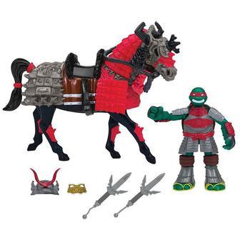 Игровой набор серии Черепешкы - ниндзя самураи фигурка Рафаэля на коне (94270)