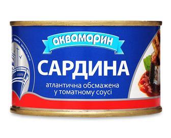 Сардина «Аквамарин» обсмажена в томатному соусі, 230г