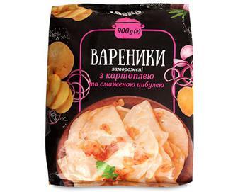 Вареники Laska з картоплею та смаженою цибулею, 900г