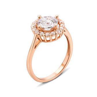 Золотое кольцо с фианитами Swarovski Zirconia. Артикул 12568/SW