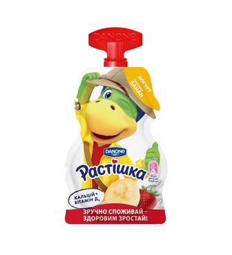 Йогурт Растишка Полуниця-Банан 2,8% 70г