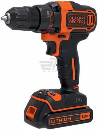 Шуруповерт акумуляторний Black+Decker BDCDC18KB