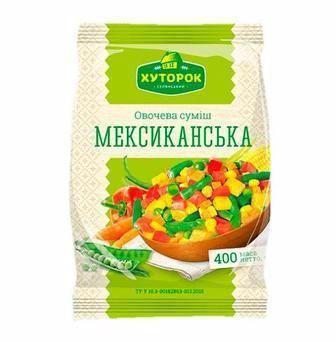 Суміш овочева Мексиканська Хуторок 400г