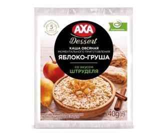 Каша AXA Dessert вівсяна яблуко-груша зі смаком штруделя, 40 г