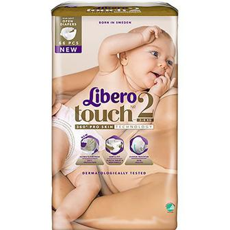 Підгузники Libero Touch №2 3-6кг 66шт