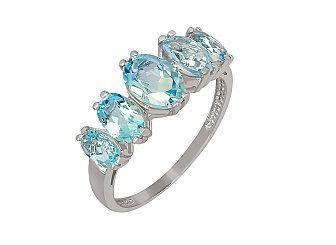 Золотое кольцо с топазами 01-16425448