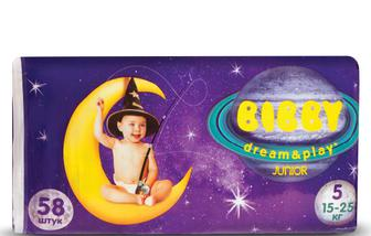 Підгузки Bibby Dream & Play Junior (15-25 кг) 58 шт./уп