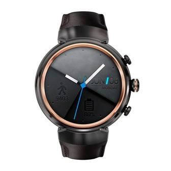 Умные часы ASUS ZenWatch 3 (WI503Q-GL-BN-BB) 1.39 Gunmetal Casing/Dark Brown Leather (Refurbished by Asus) OEM