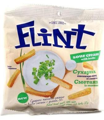 Грінки житні або сухарики пшенично-житні Флінт 70 г