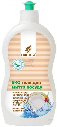 Засіб для ручного миття посуду TORTILLA Еко 0,5л