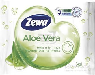 Вологий туалетний папір Zewa Aloe Vera 42 шт.